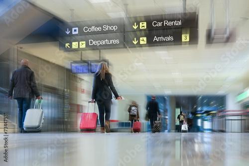 canvas print picture Airline Passengers