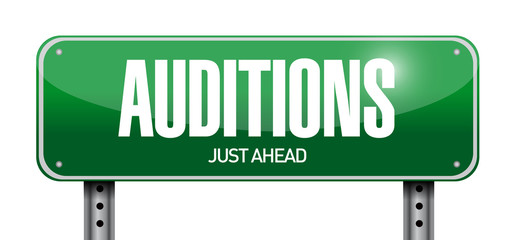 auditions sign illustration design