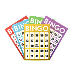 bingo cards illustration design
