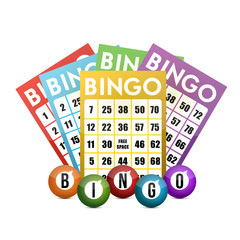 color bingo and balls illustration design