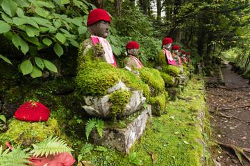 statues of Jizo in Nikko park