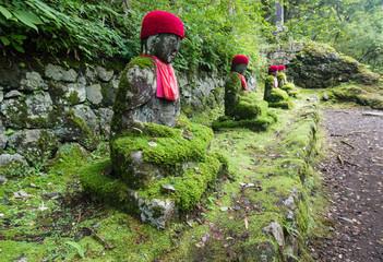 Jizo statues in Kanmangafuchi abyss