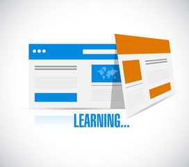 online learning browsers illustration