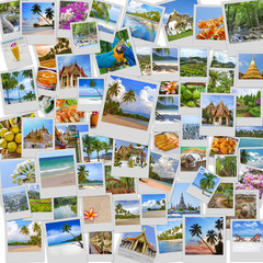 Stack of travel images from Thailand