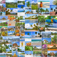 Collage of travel images from Thailand