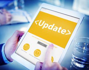 Digital Online Update Office Working Concept