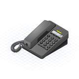 Isometric Telephone Vector Illustration