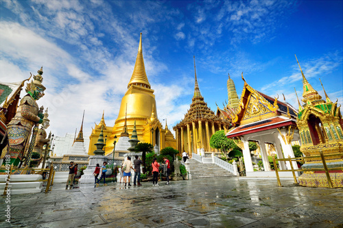 Leinwanddruck Bild Wat Phra Kaeo, Bangkok, Thailand