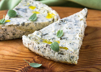 Cheese and spinach pie, Russian savory zapekanka