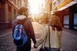 tourist couple city