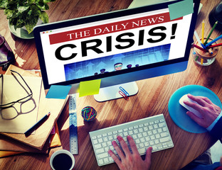 Daily News Crisis Failure Online Concept