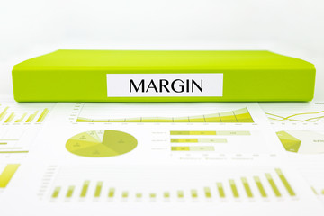Margin documents, graphs analysis and financial report