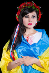 Pretty Ukrainian brunette