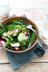 fresh radish salad in a bowl