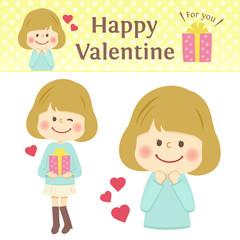 バレンタイン 女の子 イラスト