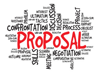 Proposal Business & finance related word cloud, presentation