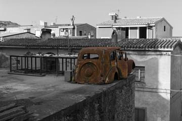Auto in terrazza