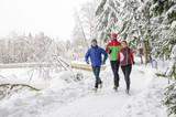 Jogger-Gruppe im Winter