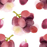 watercolor grapes seamless