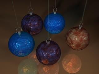 3D Weihnachtskugeln - 7