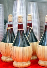 flasks of red Italian wine for sale