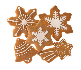 traditional christmas sweet food gingerbread cookies