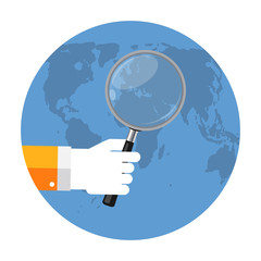 SEO Optimization,Web Analytics Flat Concept Vector Illustration