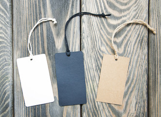 Canvas empty price tags