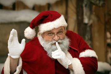 Der Weihnachtsmann macht pssst