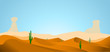 desert with dunes cactus and mountains - 73456143