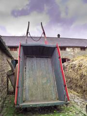 old farmyard cart