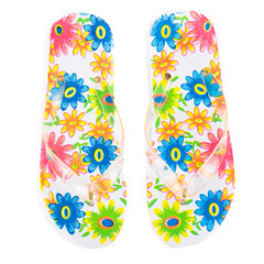 flip-flops with flowers