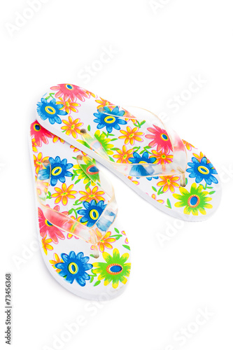 flip-flops with flowers - 73456368