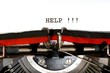 help written with black ink with the typewriter - 73456556