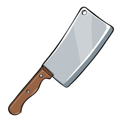 Vector Single Cartoon Kitchen Knife