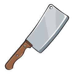 Vector Single Cartoon Kitchen Knife