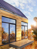 Solar panels on the roof of the house - 73457385