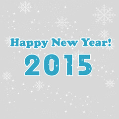 new year 2015 gray background
