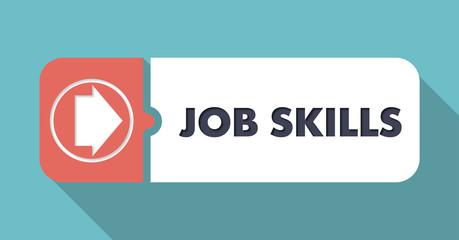 Job Skills on Orange Background in Flat Design.
