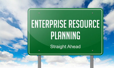 Enterprise Resource Planning on Highway Signpost.