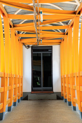 Yellow steel bridge