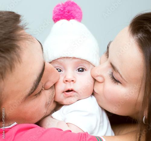 Leinwanddruck Bild family concept