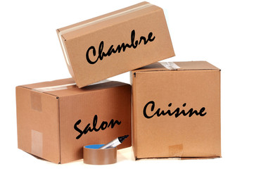 Les cartons de déménagement