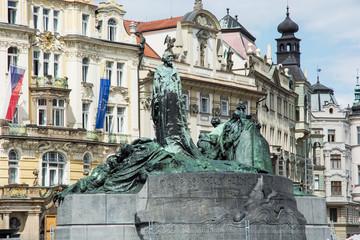 Jan Hus monument, Old town square in Prague