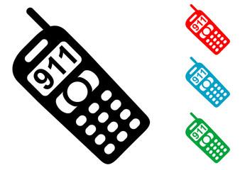 Pictograma llamada 911 con varios colores