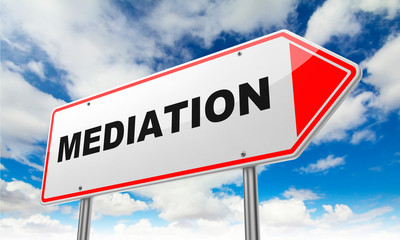 Mediation on Red Road Sign.