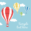 illustration of three hot air balloons - 73459788