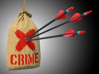 Crime - Arrows Hit in Red Target.