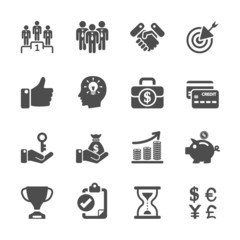 business management and human resources icon set, vector eps10