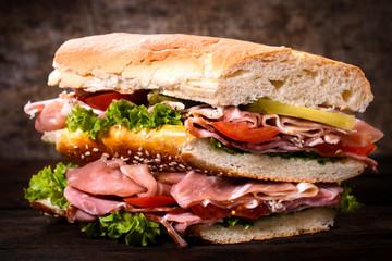 Big gourmet sandwich
